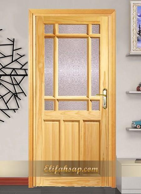 Camlı ahşap kapı 003