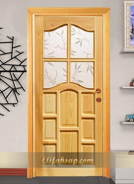 Camlı ahşap kapı 004
