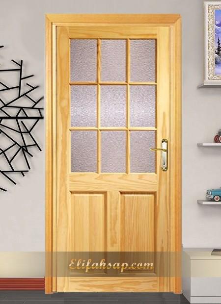 Camlı ahşap kapı 005
