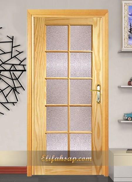 Camlı ahşap kapı 006